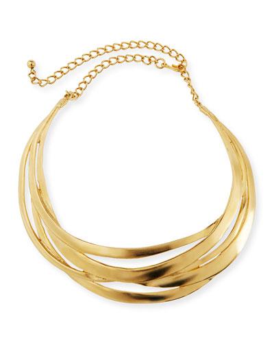 Cutout Golden Collar Necklace
