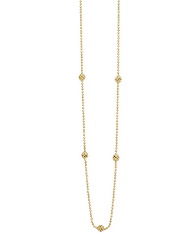 18k Yellow Gold Caviar Ball Necklace