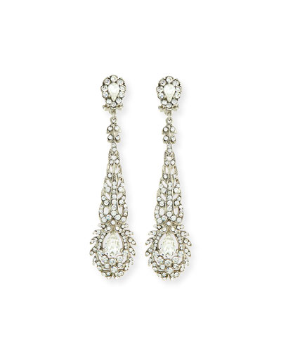 Victorian-Style Crystal Drop Earrings
