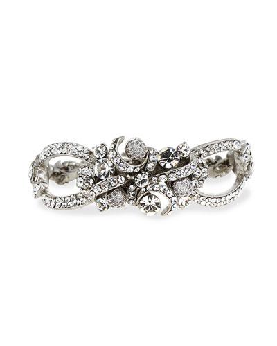 Pave Crystal Ribbon Bracelet