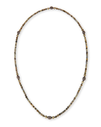 Lavana Long Labradorite & Pyrite Necklace