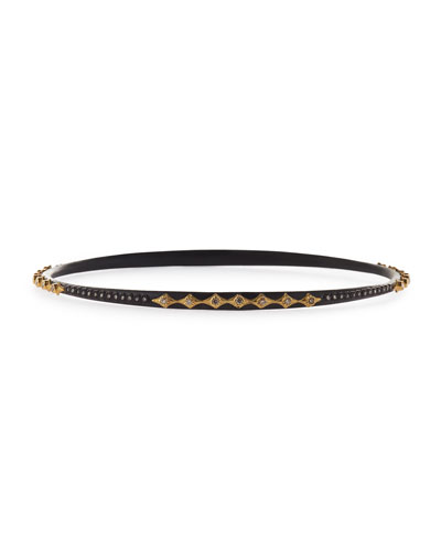 Old World Multi-Crivelli Bangle Bracelet with Diamonds