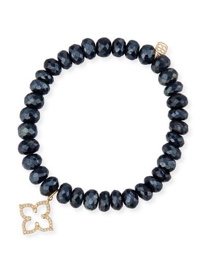 Sydney Evan 6mm Jasper Beaded Bracelet w/ 14k Diamond Hamsa Charm sGQFxnWt