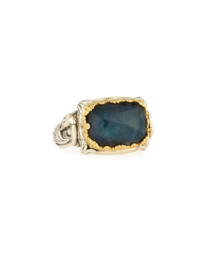 18K & Sterling Silver East-West Spectrolite Ring