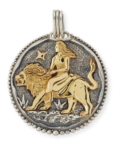 Leo Carved Zodiac Pendant