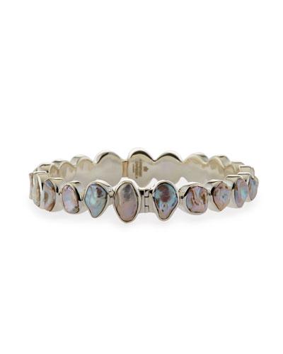 Sterling Silver Keshi Pearl Bracelet