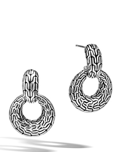 Classic Chain Silver Drop Earrings
