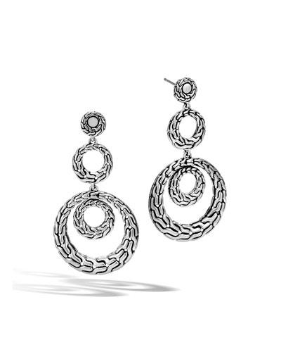Classic Chain Three-Drop Earrings