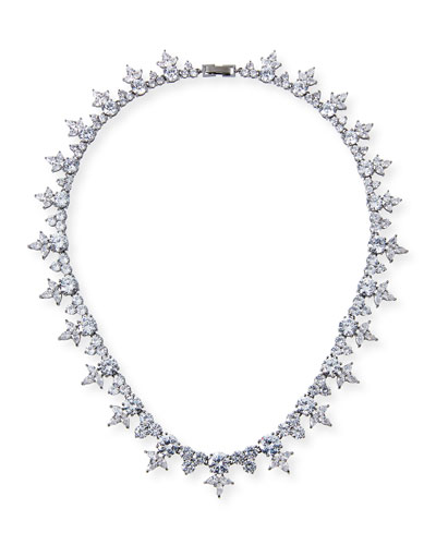 Monarch Pointed Cluster Choker Necklace