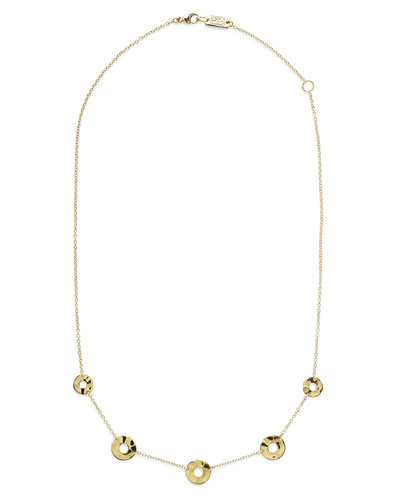 18K Senso&#153 Disc Five-Station Necklace, 18