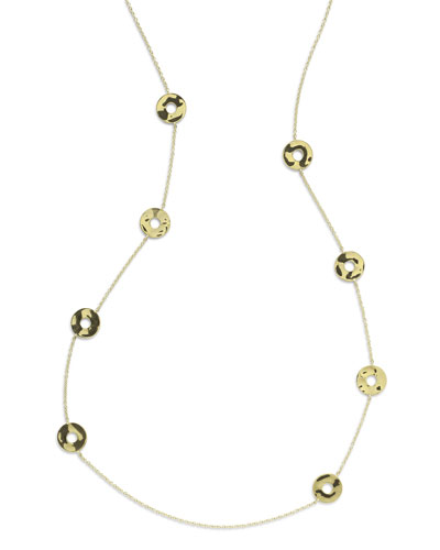 18K Senso&#153 Disc Station Necklace, 37