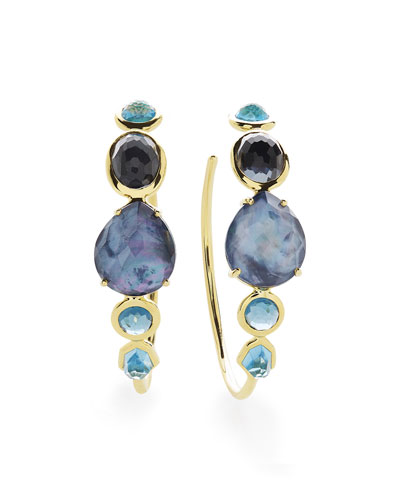 18K Rock Candy Gelato #3 Hoop Earrings in Midnight Rain