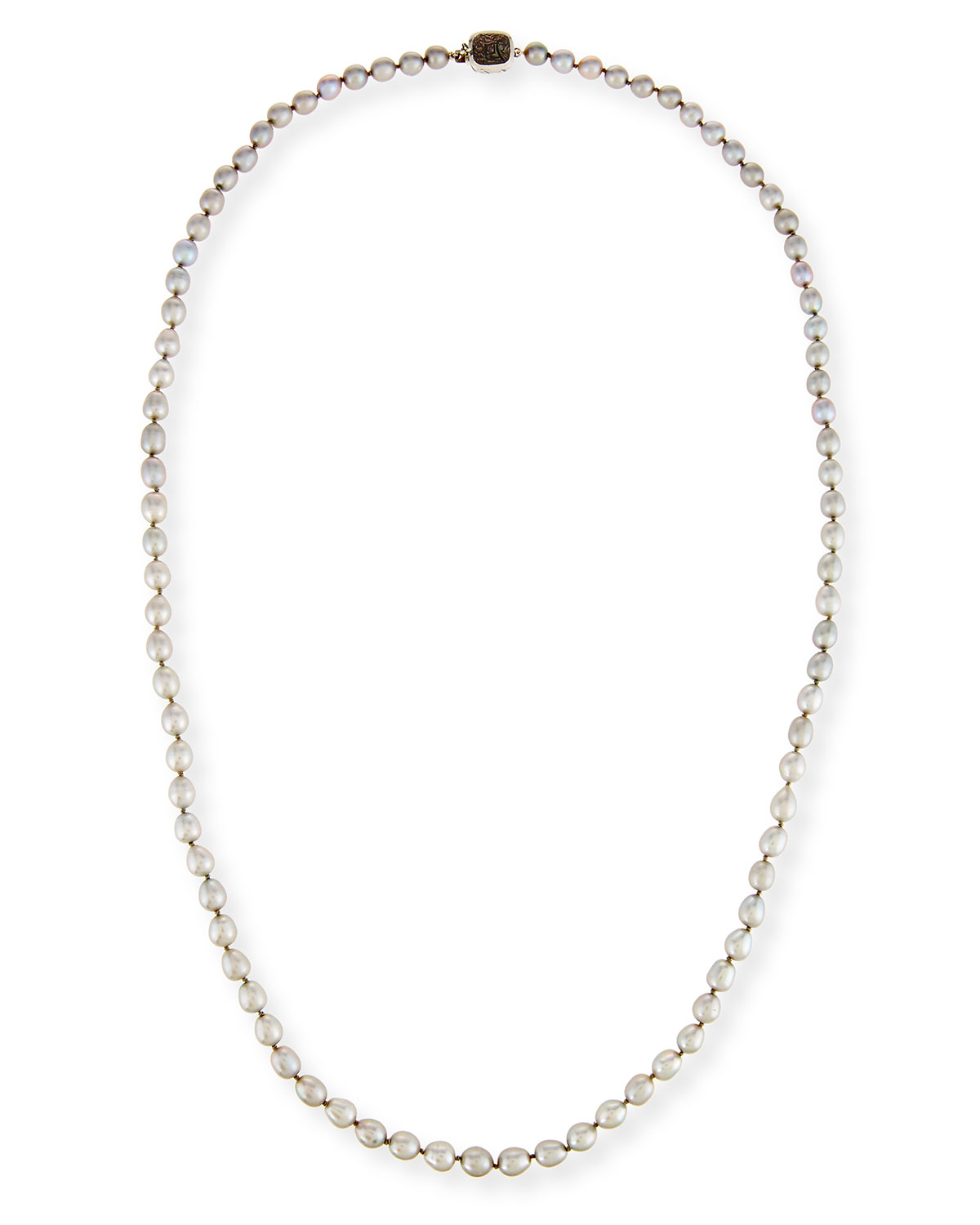 Small Baroque Pearl Necklace, 34