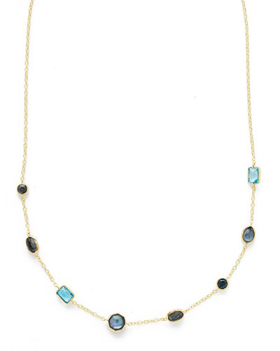 18K Rock Candy Mini Gelato Station Necklace in Midnight Rain, 18