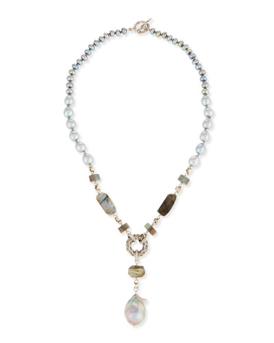 Baroque Pearl Y-Drop Necklace