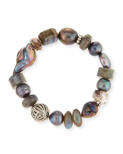 Pearl & Labradorite Bracelet