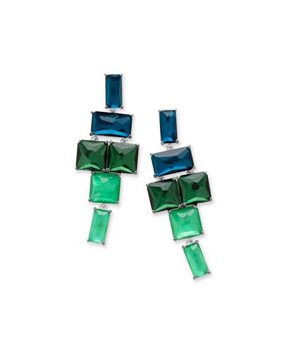 925 Rock Candy Stacked Linear Post Drop Earrings in Taffeta