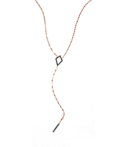 Reckless Rose Kite Bar Lariat Necklace