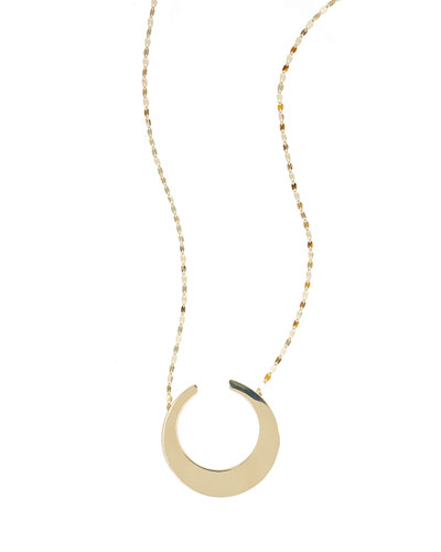 14K Gold Small Nude Geo Necklace