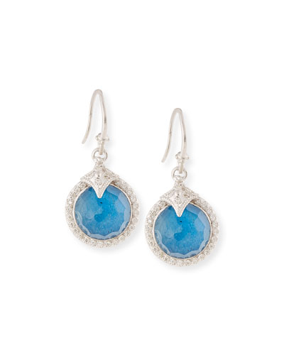 Armenta New World Round Pietersite Drop Earrings with Diamonds XMN1unAW