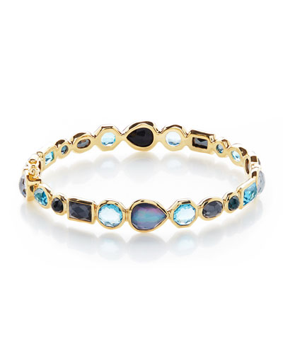18K Rock Candy Mixed Hinge Bracelet in Midnight Rain
