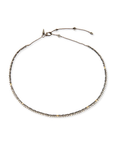 Crystal Spike Choker Necklace