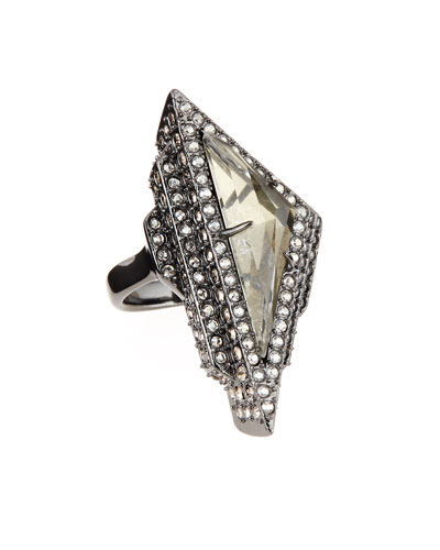 Pavé Crystal Pyramid Ring