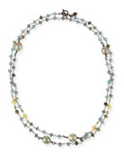 Old World Crivelli Station Necklace with Aquamarine & Pearls