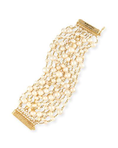 Pegaso Multi-Strand Pearl Bracelet