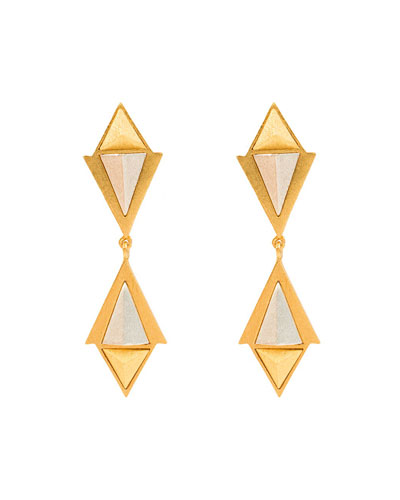 Heraldry Convoy Double-Drop Earrings