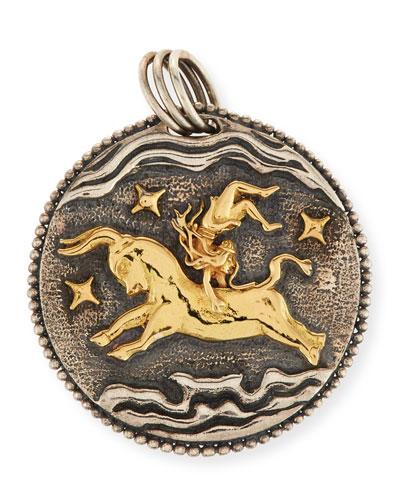 Taurus Carved Zodiac Pendant