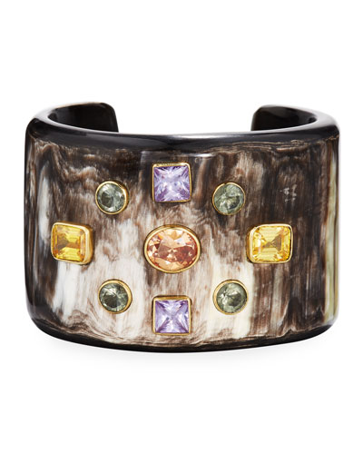 Mwali Dark Horn Cuff Bracelet