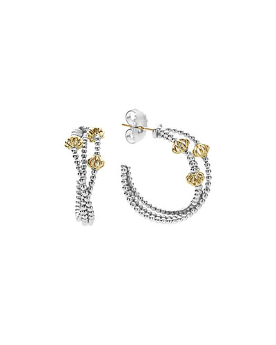 Icon Caviar 30mm Hoop Earrings