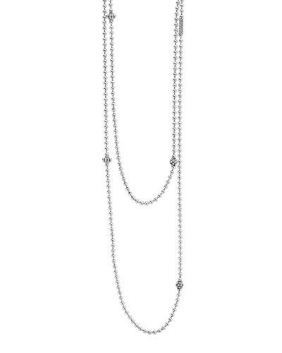 Icon Caviar Ball Chain Necklace, 36