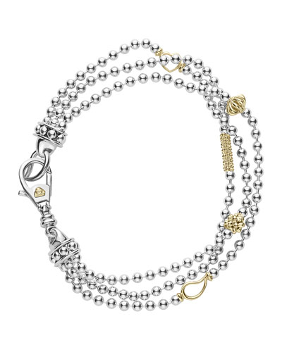 Caviar Icon Three-Row Bracelet