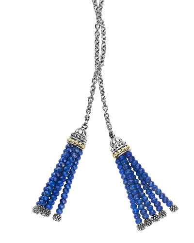 Caviar Tassels Icon Lariat Necklace