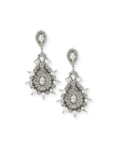 Austrian Crystal Starbust Drop Earrings
