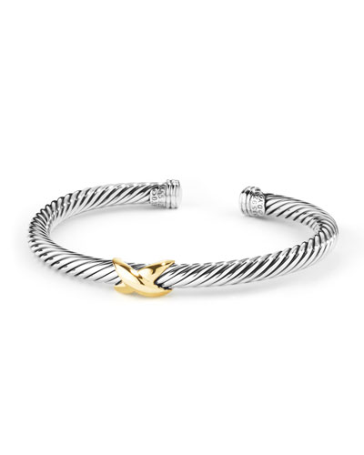 David Yurman X Bracelet 5mm with Gold Medium