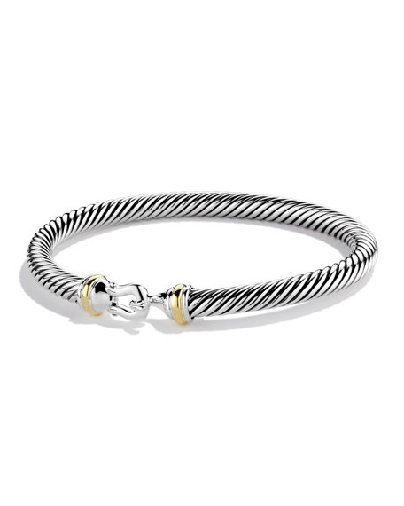 David Yurman Cable Classic Buckle Bracelet with 18K Gold, 5mm