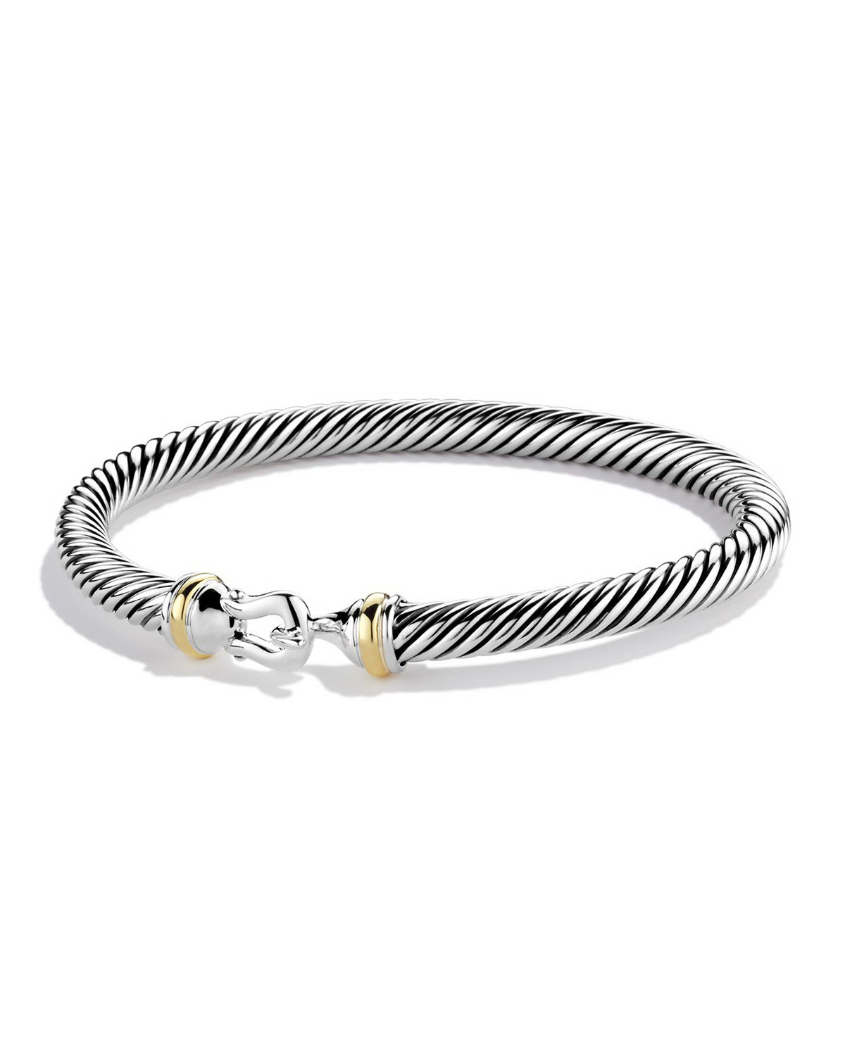 Cable Classic Buckle Bracelet with 18K Gold