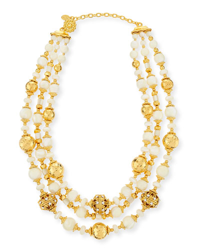 Beaded Three-Strand Necklace
