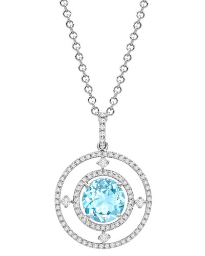 Apollo Diamond & Blue Topaz Pendant Necklace