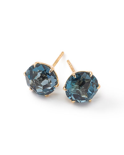 18k Rock Candy Medium Round Stud Earrings