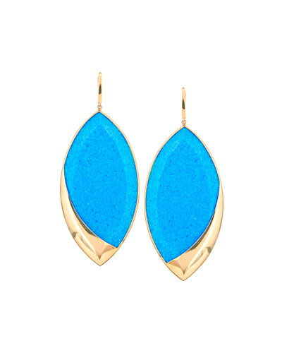 14k Electrifying Marquise Opal & Hematite Drop Earrings