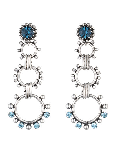 Grayson Crystal Statement Earrings, Blue