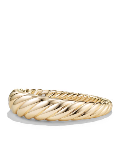 17mm Large Pure Form Cable Bracelet in 18K Gold, Size L