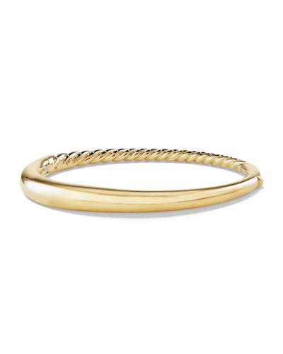 6.5mm Large Pure Form Hinge Bracelet in 18K Gold