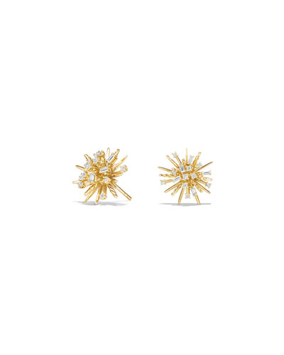 Supernova Diamond Earrings in 18K Gold