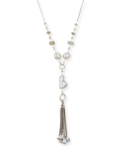 Pearl Tassel Chain Necklace, 29
