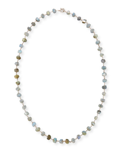 Freeform Labradorite Single-Strand Necklace, 32